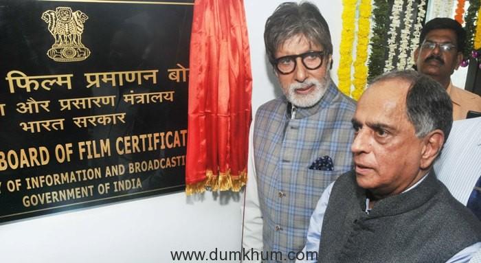 Amitabh Bachchan inaugurates CBFC's new office in Mumbai