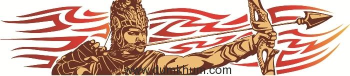 Baahubali tattoo with Tiger