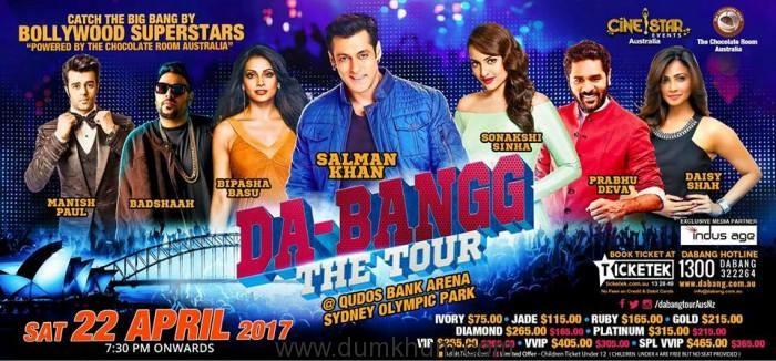 Salman Khan & Sonakshi Sinha all set to Rock 'DA BANG' –The Tour, in Australia & New Zealand!