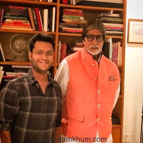 Divyansh Pandit with Mr.Bachchan