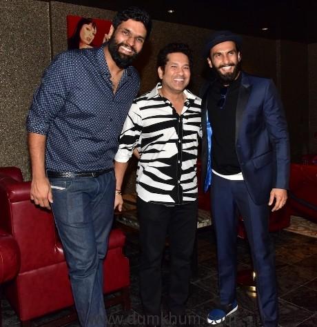 Sachin Tendulkar Movie Wrap up Party and Birthday celebration of the Producer Friend Ravi Bhagchandka