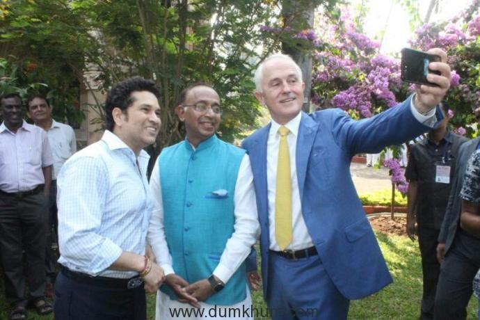 Australia to collaborate in establishing National Sports University in India Australian PM meets with Sachin Tendulkar