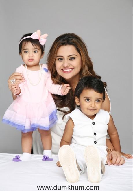 Deepshikha with daughter Diviyanaa & son Vansh