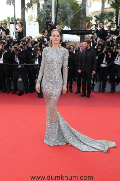 L'Oréal Paris Doutzen Kroes on Day 8 of red carpet at Cannes Film Festival