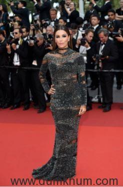 L'Oréal Paris ambassador Eva Longoria on Day 7 of red carpet at Cannes Film Festival 2017