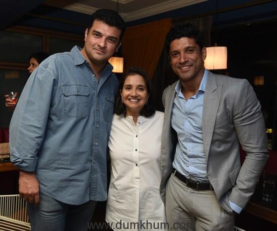 MAMI Sundowner-Siddharth Roy Kapur, Festival Director Anupama Chopra & Farhan Akhtar