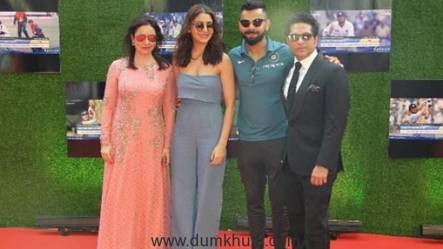 Sachin, Anjali, Anushka and Virat at Sachin Premiere