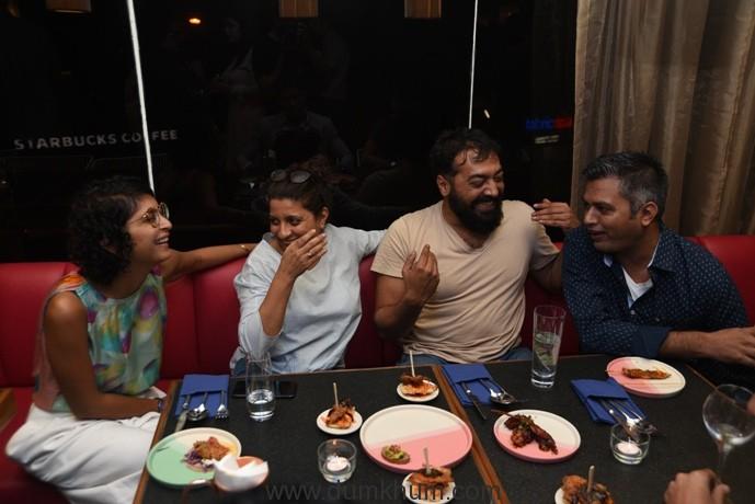The MAMI Sundowner-Festival Chairperson Kiran Rao, Zoya Akhtar, Anurag Kashyap & Neeraj Gaywan