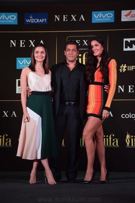 Alia Bhatt Salman Khan and Katrina Kaat the Official IIFA Press Conference, Mumbai (7)
