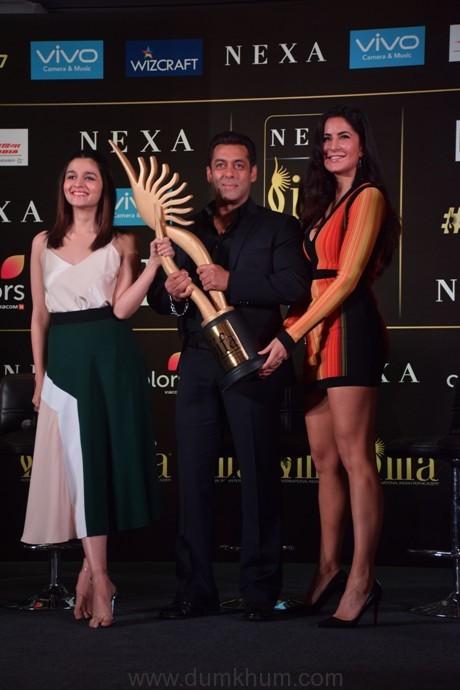 Alia Bhatt Salman Khan and Katrina Kaif at the Official IIFA Press Conference, Mumbai (5)