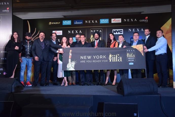 Andre Timmins, Viraf Sarkari, Salman Khan, Katrina Kaif, Alia Bhat and all welcomes IIFA 2017 In New York