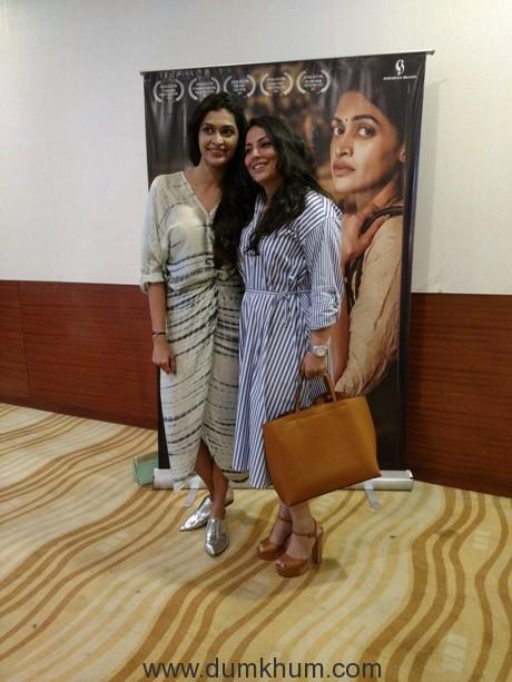 Award winning actress Salony Luthra and debutante director Paakhi Tyrewala'