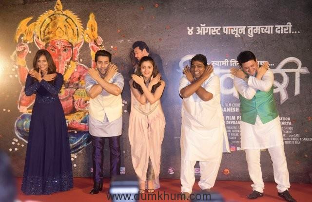 (L-R) Rucha Inamdar, Varun Dhawan, Alia Bhatt, Ganesh Acharya and Swwapnil Joshi.