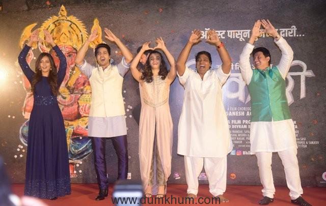 (L-R) Rucha Inamdar, Varun Dhawan, Alia Bhatt, Ganesh Acharya and Swwapnil Joshi