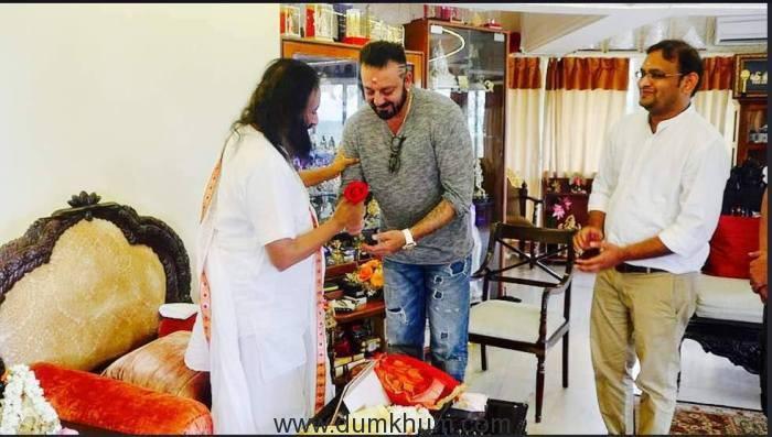 Sanjay Dutt meets Sri Sri Ravi Shankar