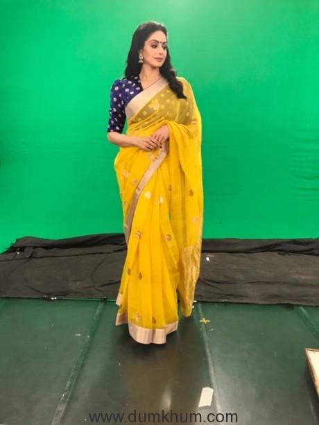 Sridevi Kapoor in RAW MANGO sari !