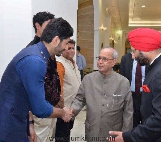 Mohit Marwah with President Pranab Mukherjee at Rashtrapati Bhavan!