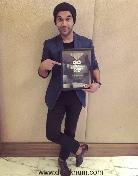 Rajkummar Rao features in GQ's Most Influential Young Indians 2017!