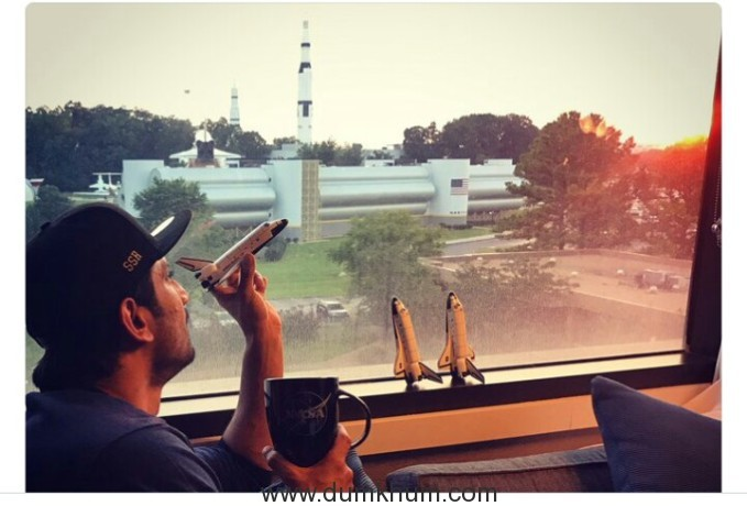 Sushant Singh Rajput visits the U.S .Space Center