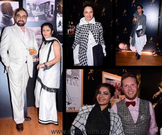 Kabir Bedi, Adhuna Akhtar and Shveta Salve & Shonali Nagrani spotted at the Johnnie Walker Lounge at Lakme Fashion Week