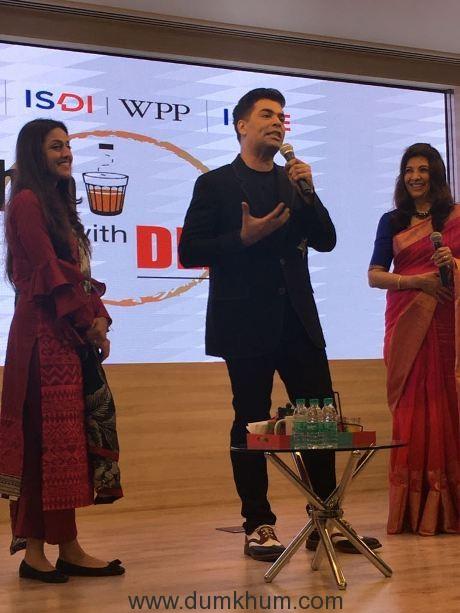Karan Johar at ISDI (Indian School of Design& Innovation)