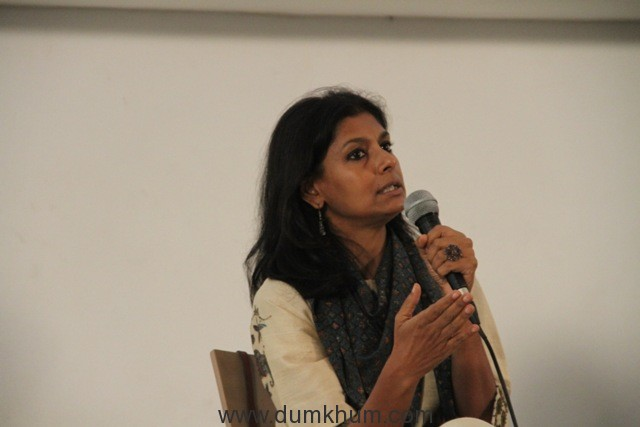 Nandita Das discussing legacies of Partition at Godrej India Culture Lab