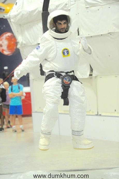 Sushant Singh Rajput Trains At U.S. Space Camp