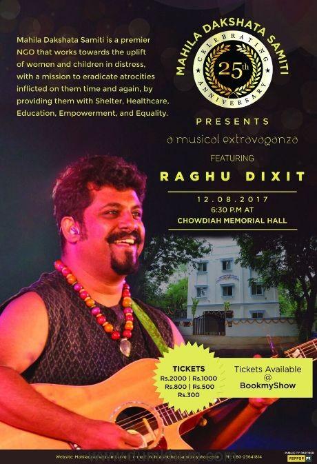 Raghu Dixit to Perform at the 25th Anniversary of Mahila Dakshata Samiti