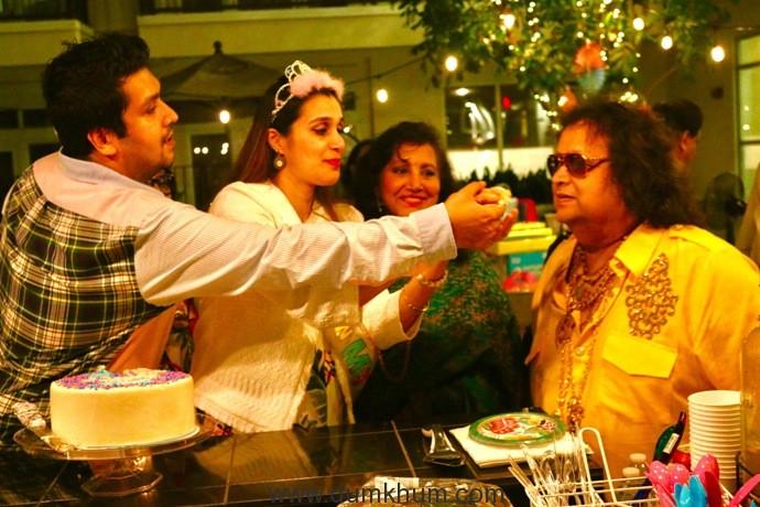 1. Bappa Lahiri & Tanisha Lahiri with Bappi Lahiri & Chitrani Lahiri at Tanisha Lahiri's baby shower in Los Angeles