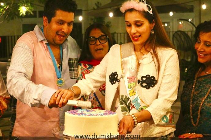 2. Bappa Lahiri & Tanisha Lahiri with Bappi Lahiri & Chitrani Lahiri at Tanisha Lahiri's baby shower in Los Angeles