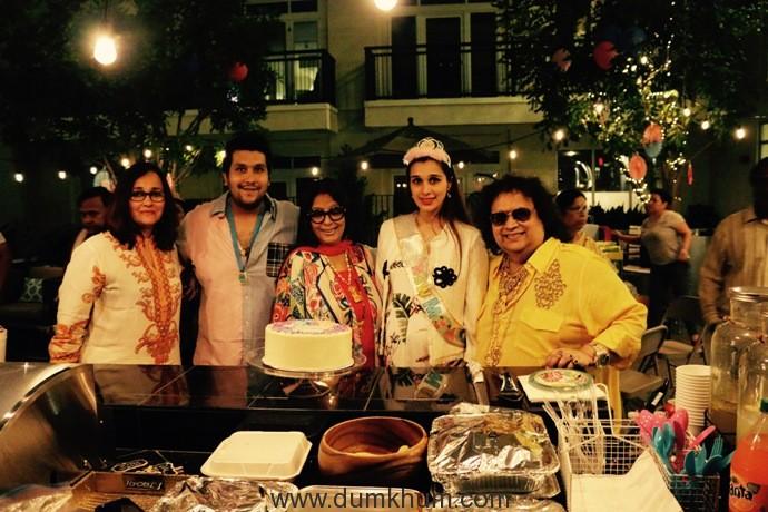 3. Bappa Lahiri & Tanisha Lahiri with Bappi Lahiri & Chitrani Lahiri at Tanisha Lahiri's baby shower in Los Angeles