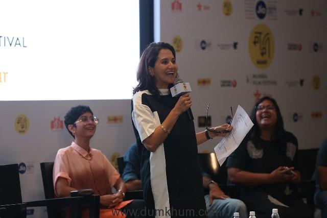 Festival Director-Anupama Chopra talking to media