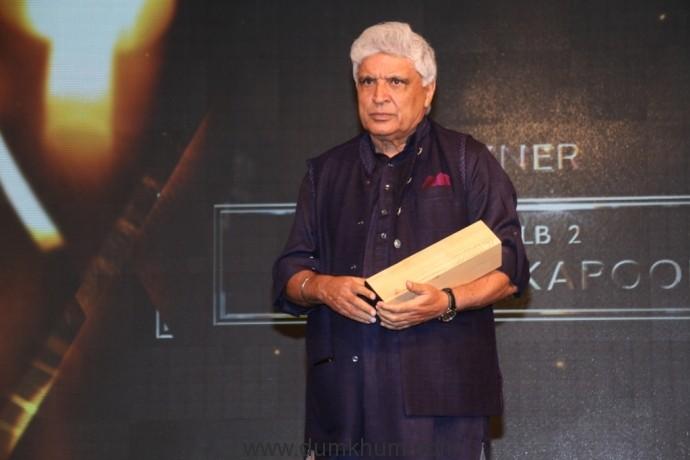 Javed Akhtar at the 8th Jagran Film Festival Award Night