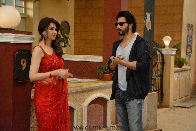 Judwaa 2 – Varun Dhawan on the sets of &TV's Bhabi Ji Ghar Par Hain