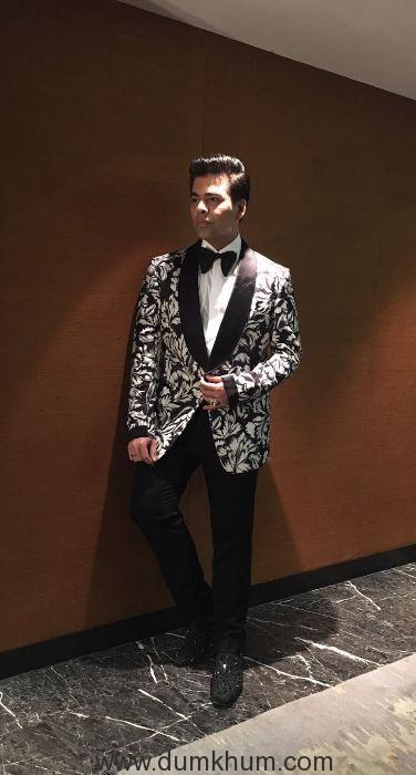 Karan Johar wearing Tomford For Vogue women of the year awards.