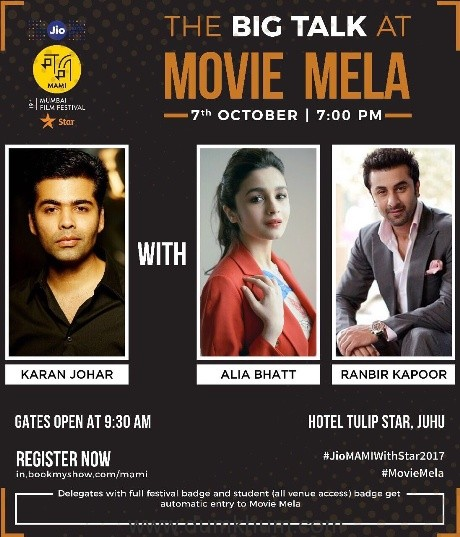 INDIA'S ONLY MOVIE CARNIVAL IS BACK ! Jio MAMI MOVIE MELA WITH STAR IN ITS 3RD EDITION ROPES IN MORE CELEBRITIES AND MORE FUN…