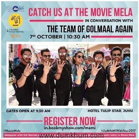 Movie Mela 7th October 2017, Gates Open at 9.30am_Golmaal4 Cast