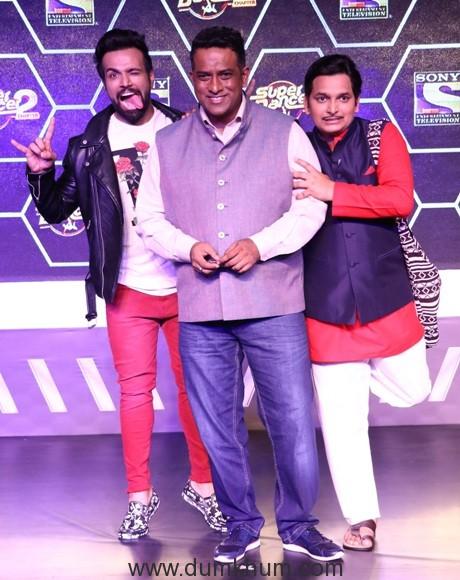 Rithwik Dhanjan, Anurag Basu & Paritosh Tripathi at Super Dancer Chapter...