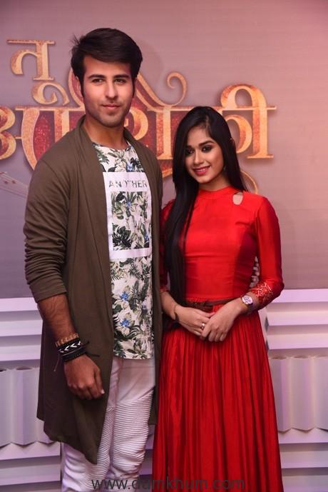 Ritvik Arora and Jannat Zubair at the launch of Tu Aashiquii on Colors (3)
