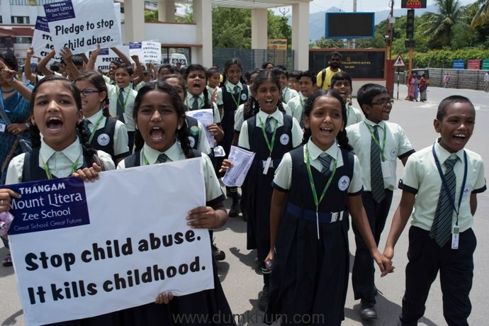 Students in Salem participated in Bharat Yatra to fight against child sexual abuse