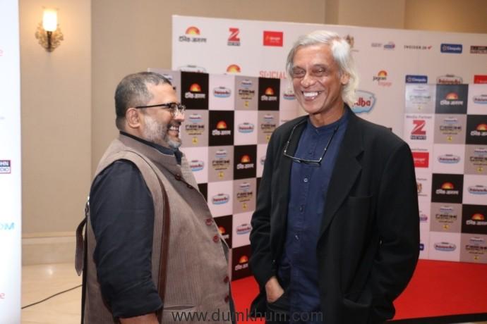 Sudhir Mishra and Aniruddha Roy Chowdhury at the 8th Jagran Film Festival Award Night