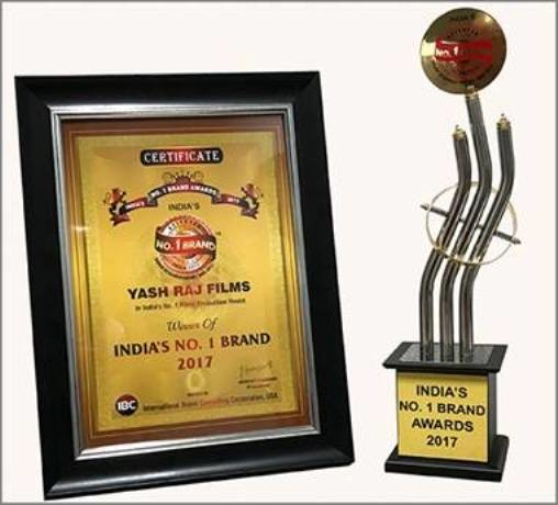 Yash Raj Films chosen as India's Number 1  Film Production House Brand by Leading Research Report