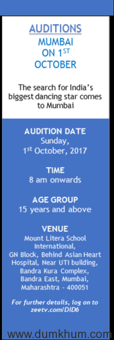 """The Undisputed Leader of Dance Reality Shows """"DANCE INDIA DANCE"""" SEASON 6  Returns!"""