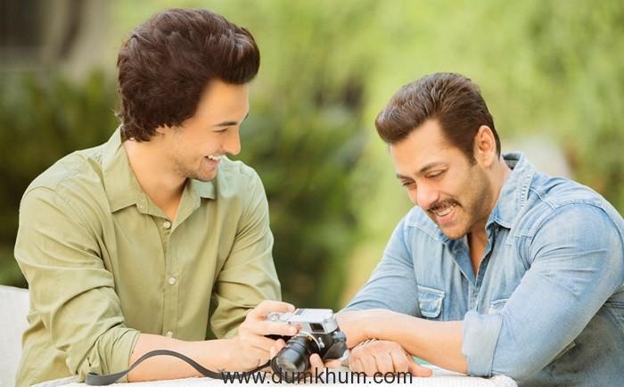 Aayush Sharma and Salman Khan 2