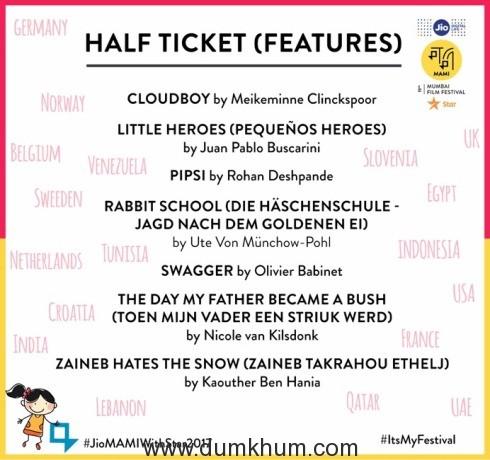Half Ticket features