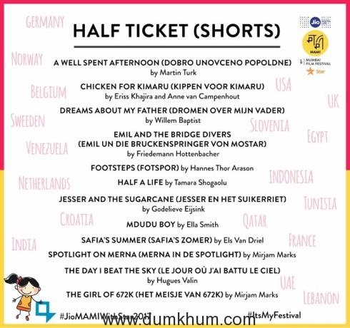 Half Ticket shorts
