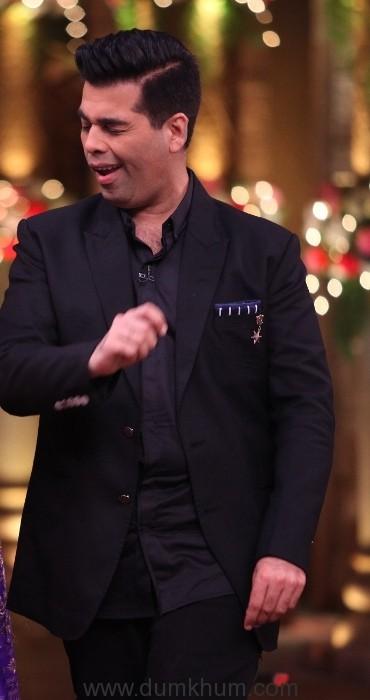 Karan Johar and Bharti Singh on Comedy Nights Bachao Taaza