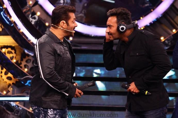 Salman Khan and Ajay Devgan in Bigg Boss 11