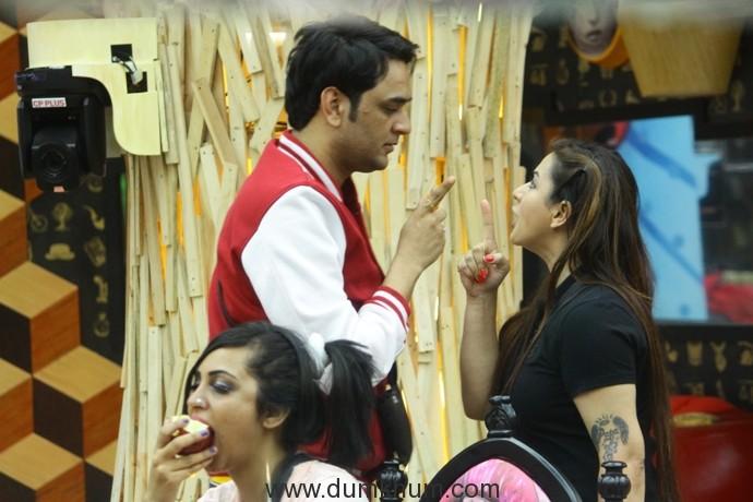 Shilpa and Vikas fighting in Bigg Boss 11