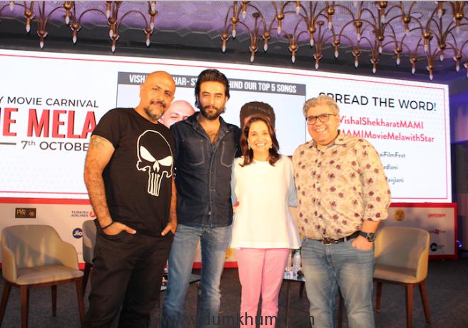 Vishal-shekhar , MAMI Festival Director-Anupama Chopra & Rajeev Masand